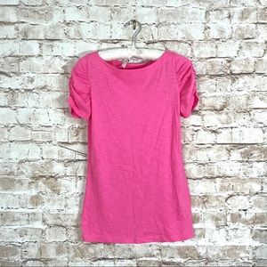 Lilly Pulitzer Lana Hot Pink Slub T-Shirt Sz Small